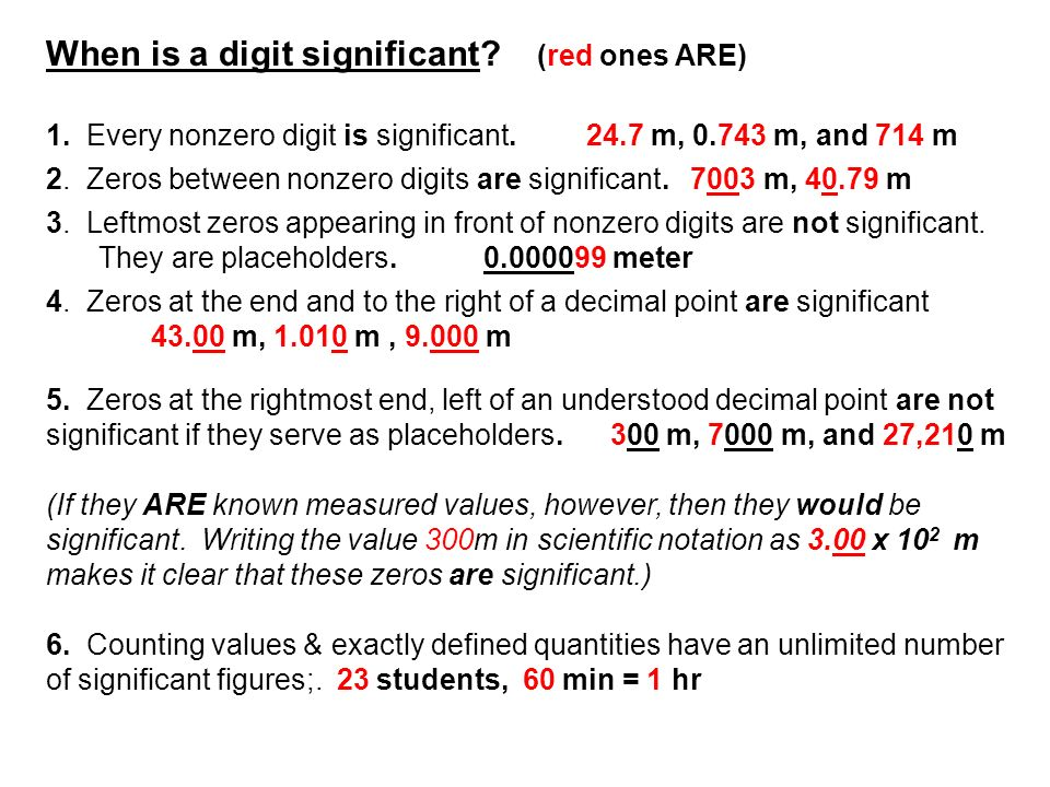 When is a digit significant (red ones ARE)