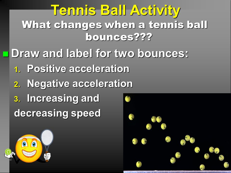 What changes when a tennis ball bounces