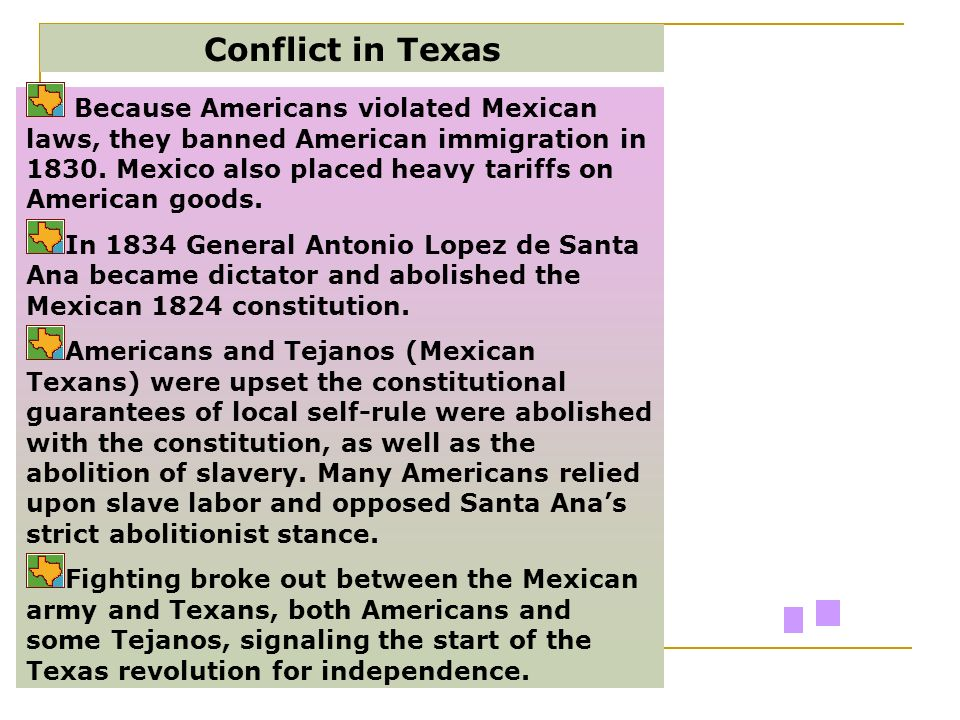 Conflict in Texas