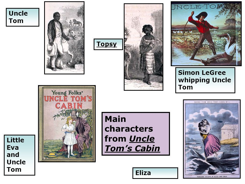 Main characters from Uncle Tom's Cabin