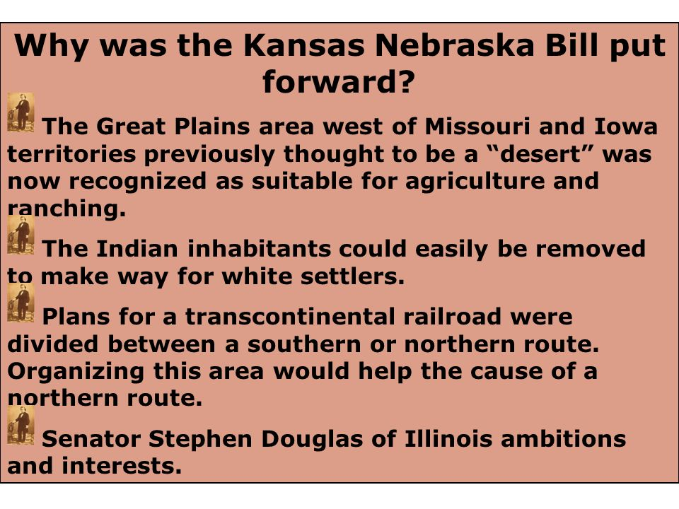 Why was the Kansas Nebraska Bill put forward