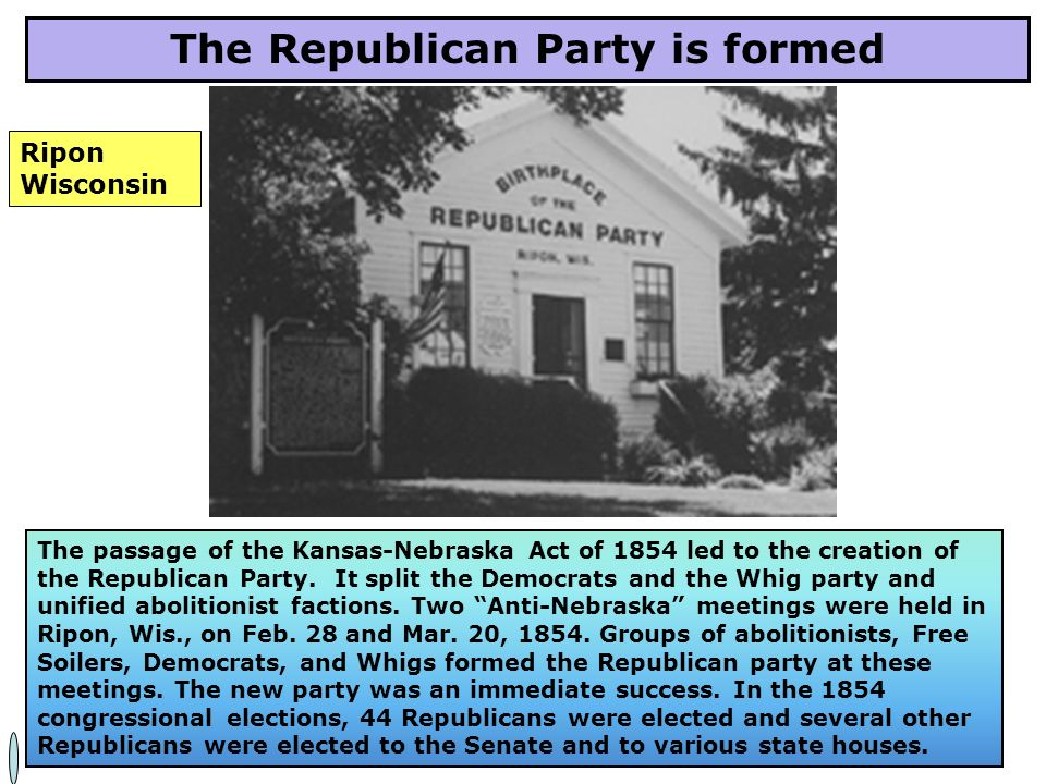 The Republican Party is formed