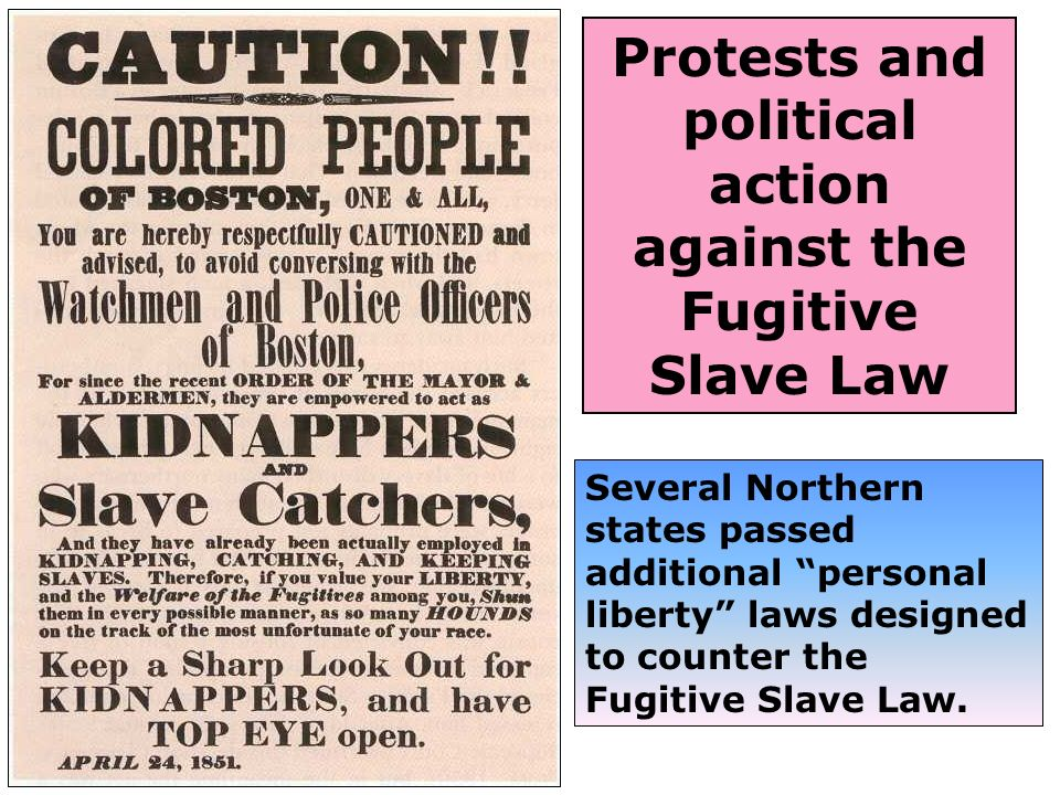 Protests and political action against the Fugitive Slave Law