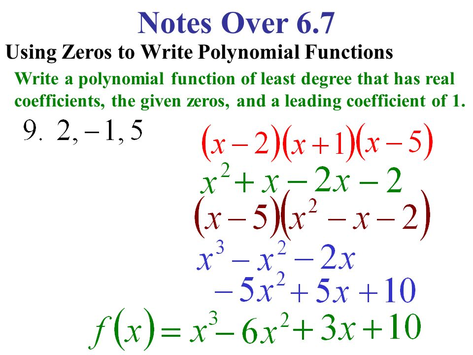 Write A Polynomial Function In Standard Form Solidpion