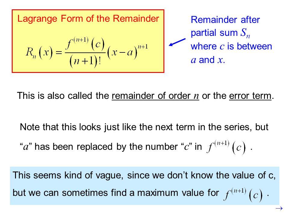 Taylor's Polynomials & LaGrange Error Review - ppt video online ...