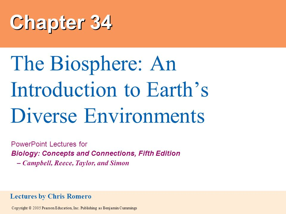 The Biosphere: An Introduction to Earth's Diverse Environments