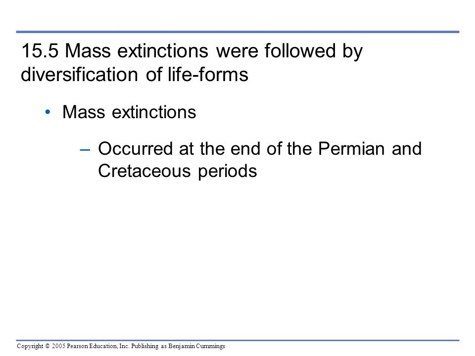 15.5 Mass extinctions were followed by diversification of life-forms