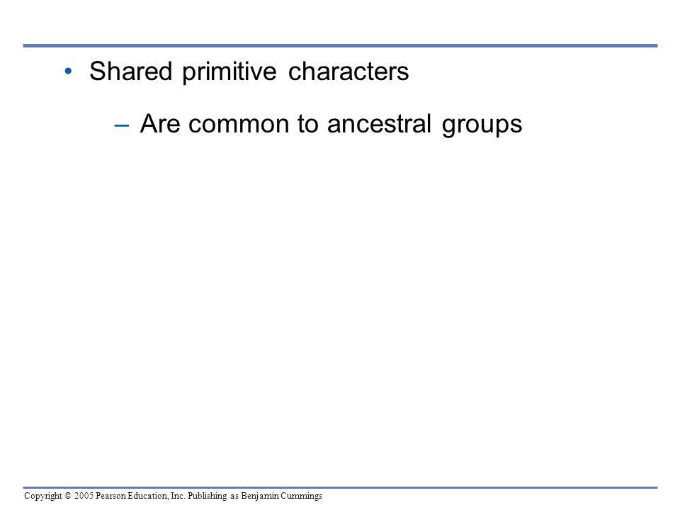 Shared primitive characters