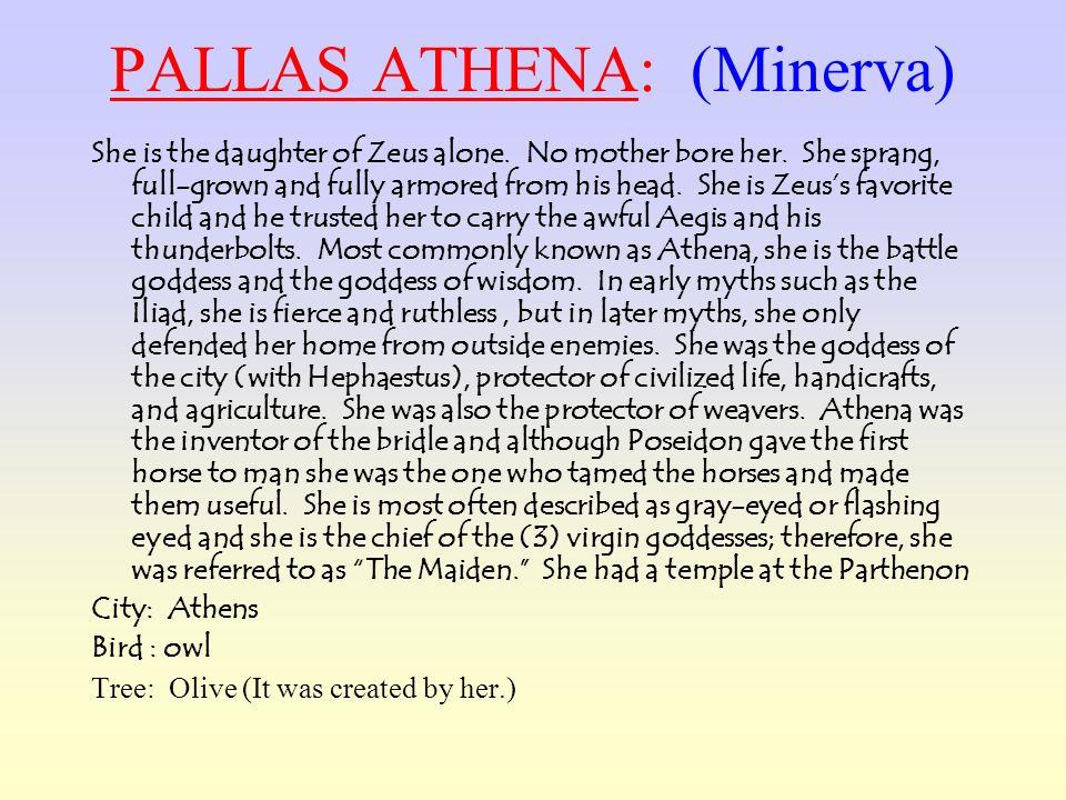 PALLAS ATHENA: (Minerva)