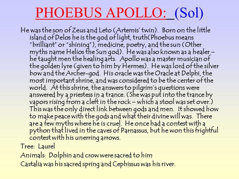 PHOEBUS APOLLO: (Sol)