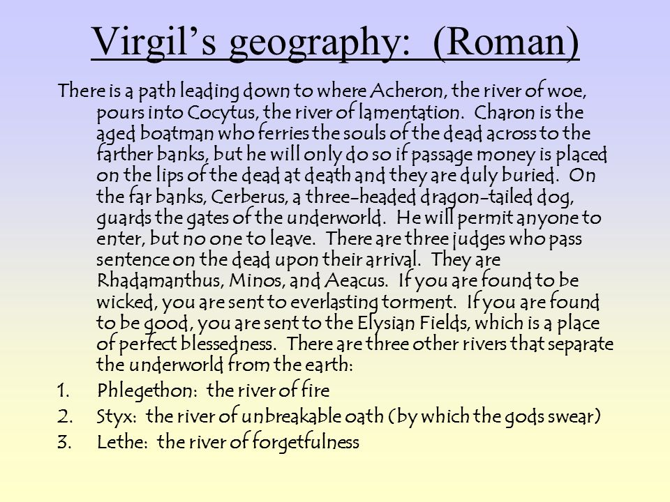 Virgil's geography: (Roman)