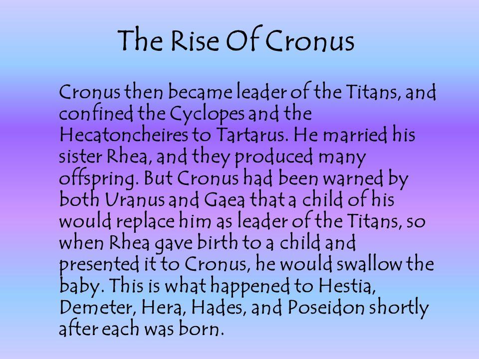 The Rise Of Cronus