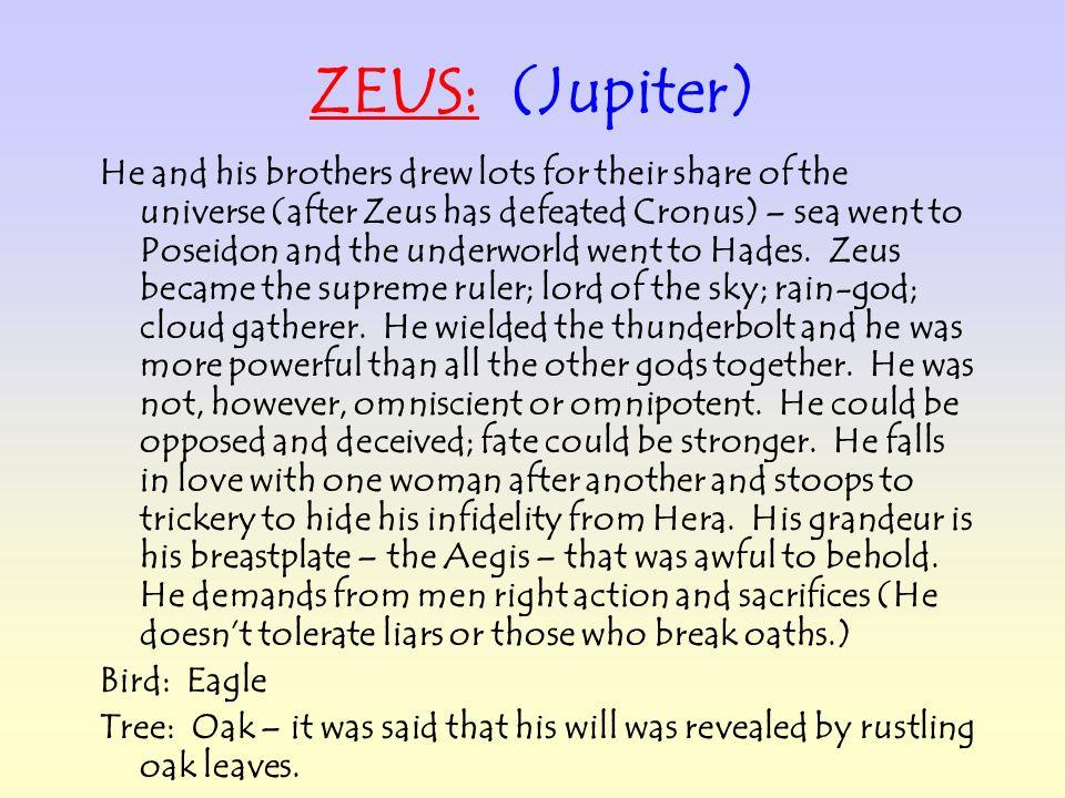 ZEUS: (Jupiter)