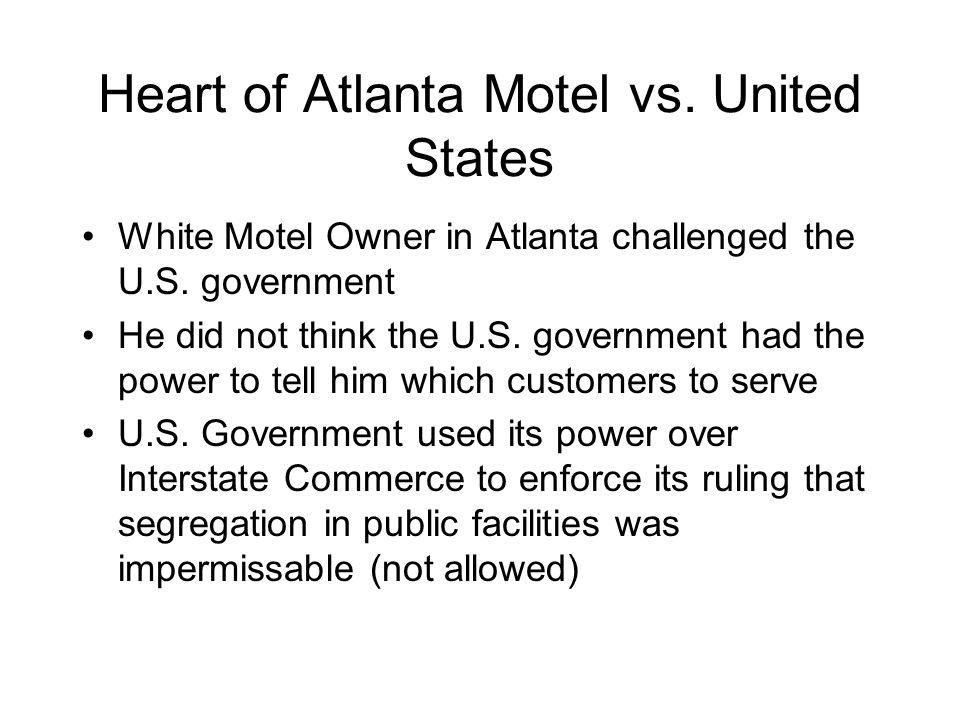 Heart of Atlanta Motel vs. United States