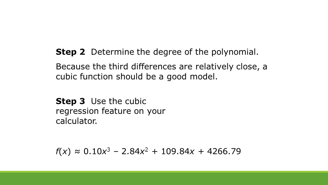 6 7 investigating graphs of polynomial functions ppt download step 2 determine the degree of the polynomial falaconquin