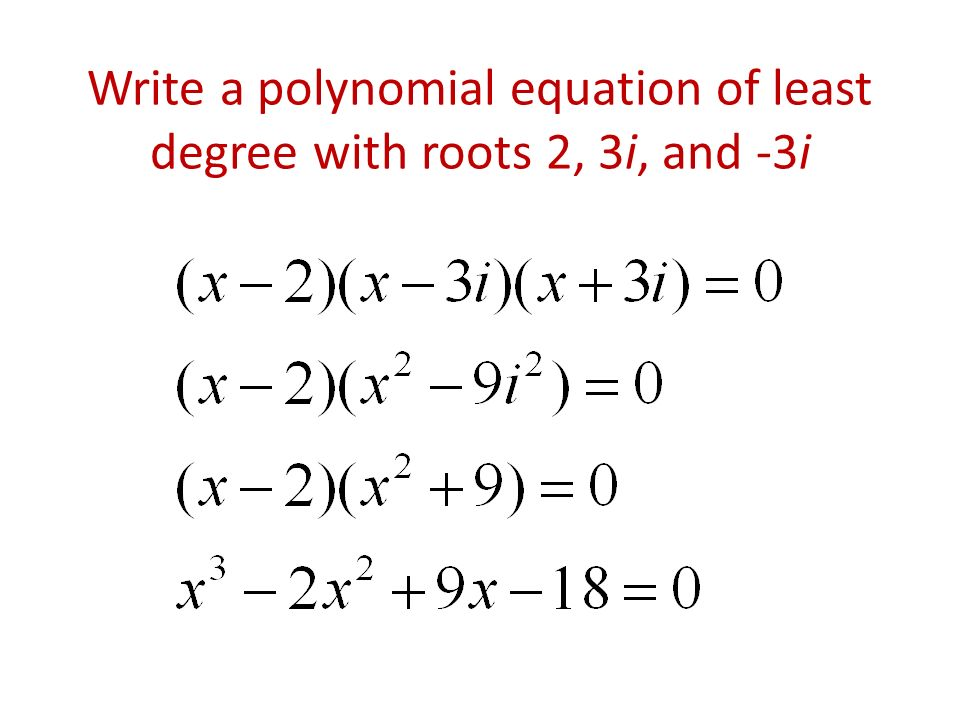 Finding the Equation of a Polynomial Function