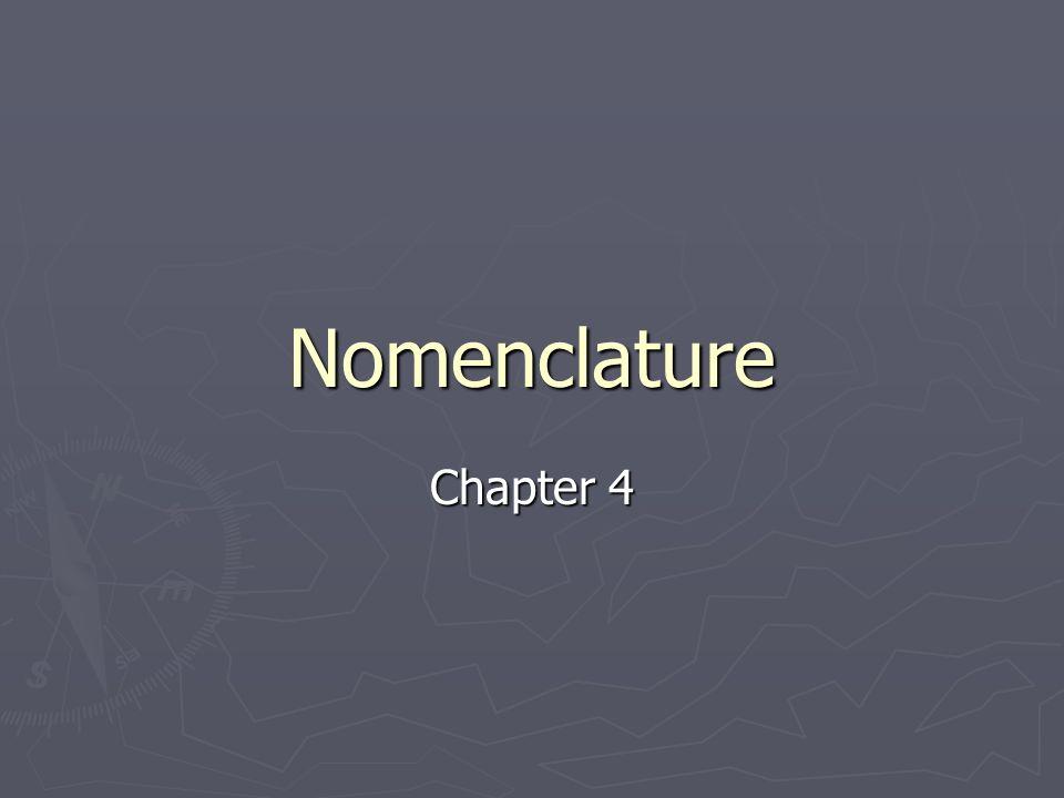 Nomenclature Chapter 4
