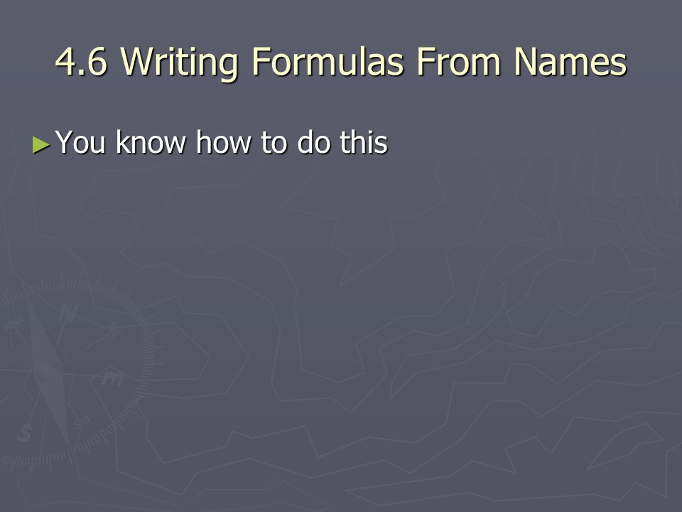 4.6 Writing Formulas From Names