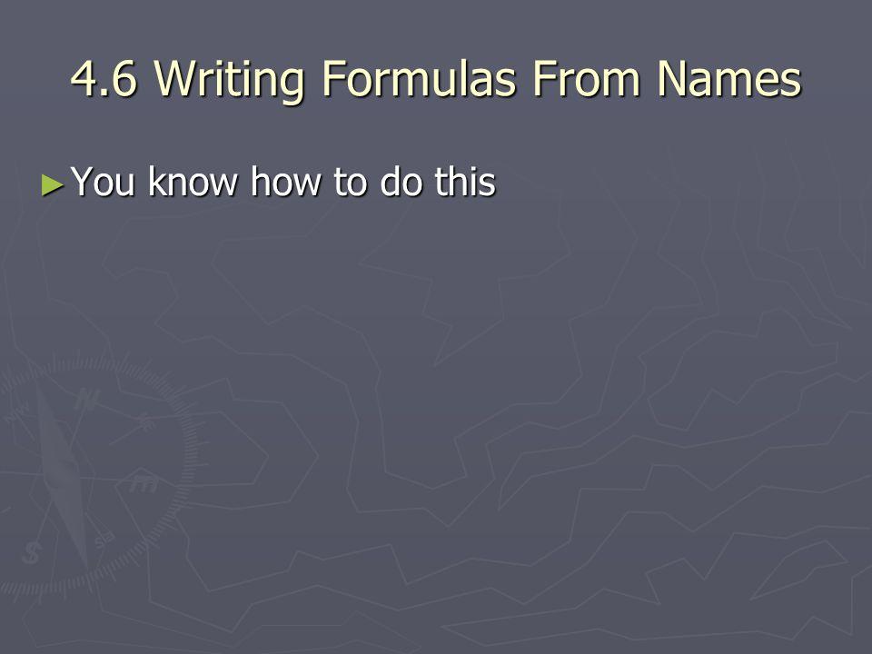 4.6 Writing Formulas From Names