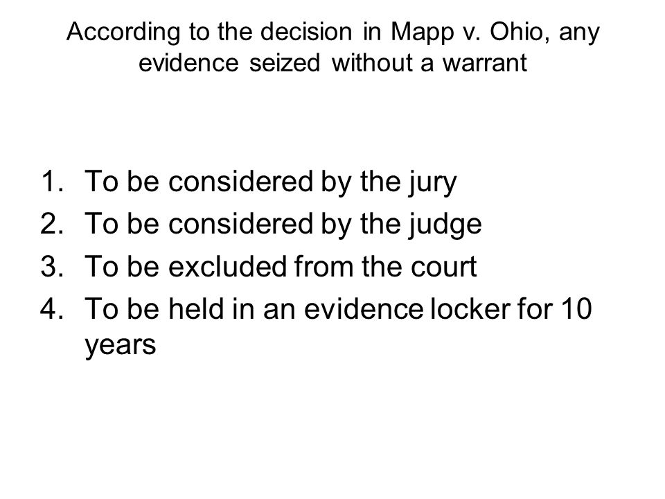 To be considered by the jury To be considered by the judge