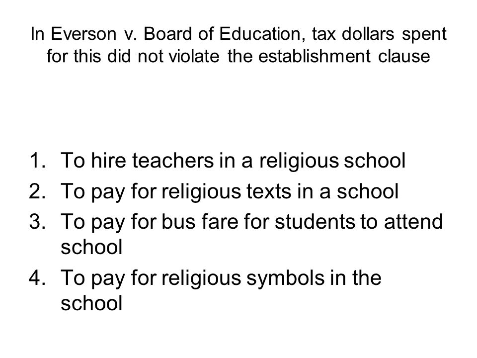 To hire teachers in a religious school