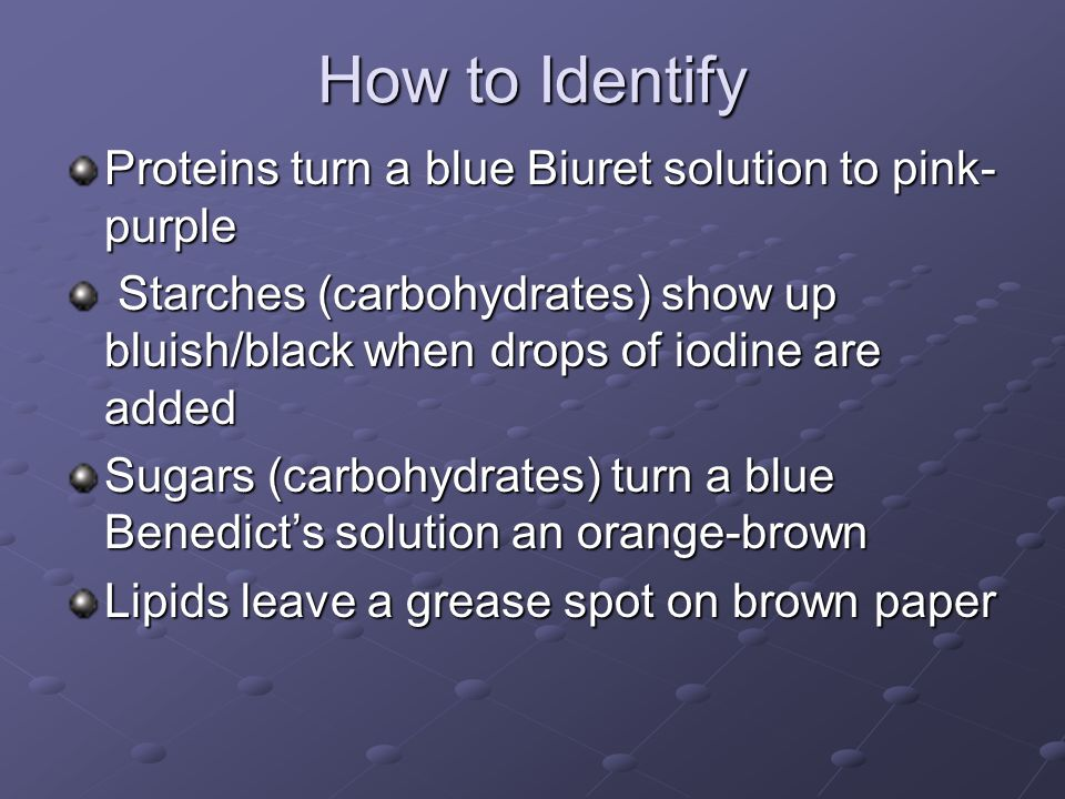 How to Identify Proteins turn a blue Biuret solution to pink-purple