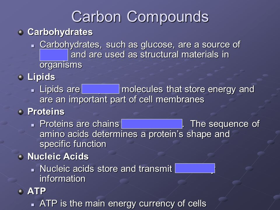 Carbon Compounds Carbohydrates
