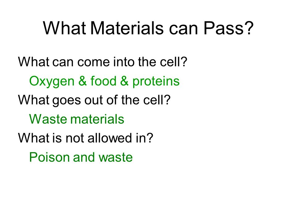 What Materials can Pass
