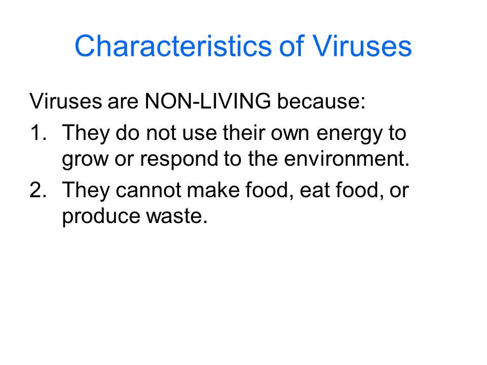 Characteristics of Viruses