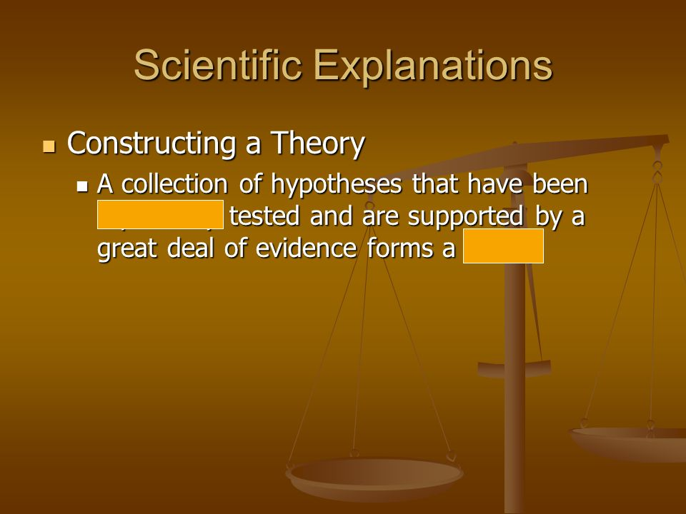 Scientific Explanations