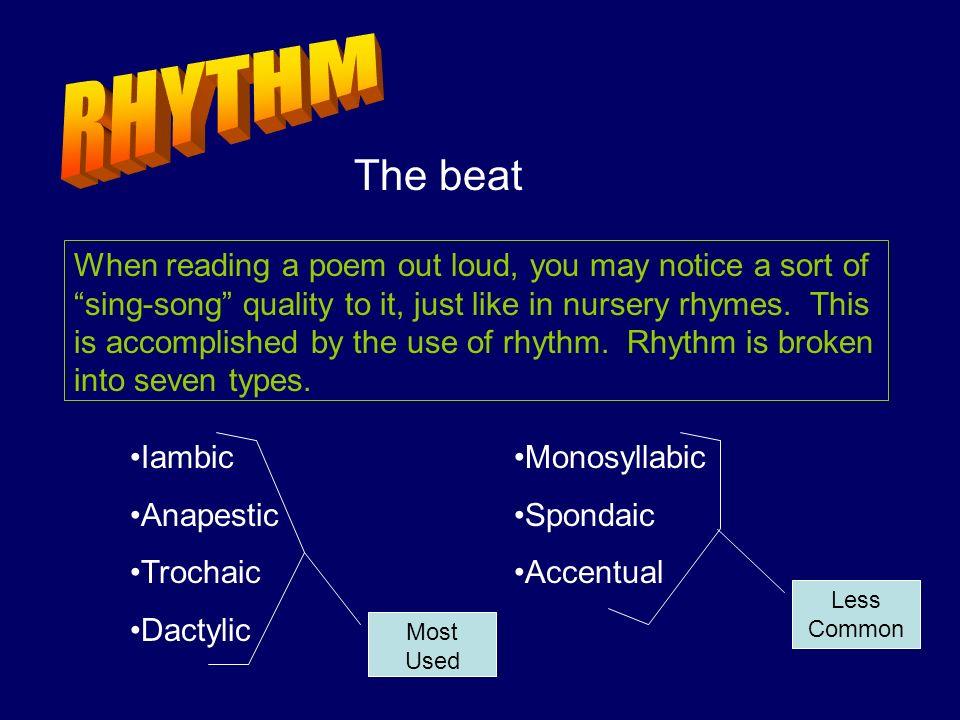 RHYTHM The beat.