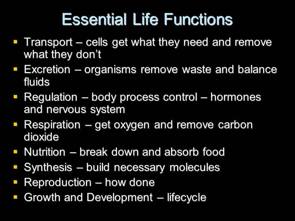 Essential Life Functions