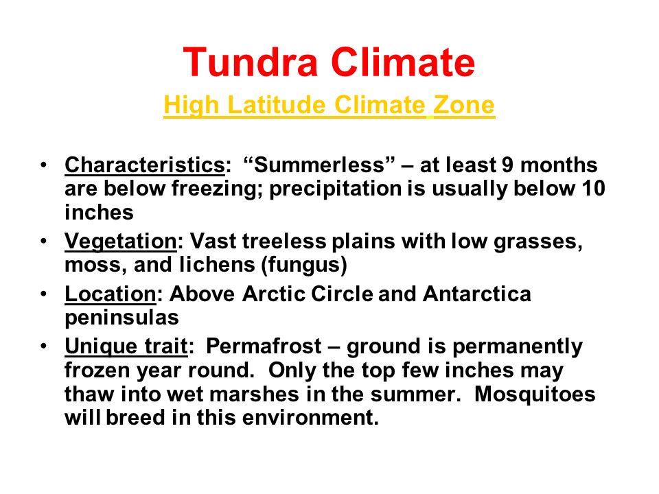 High Latitude Climate Zone