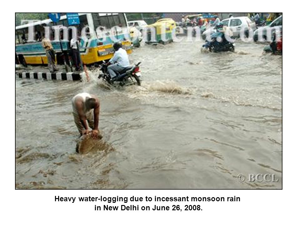 Heavy water-logging due to incessant monsoon rain