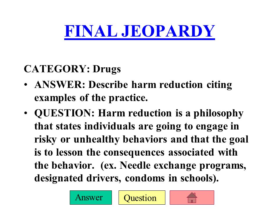 Health Jeopardy Wellness Concepts Going Mental Drug Mania Ppt Video Online Download