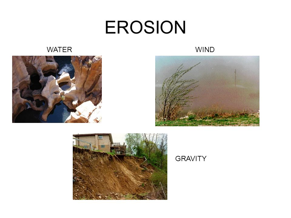 EROSION WATER WIND GRAVITY