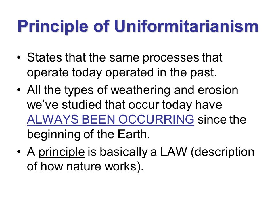 Principle of Uniformitarianism