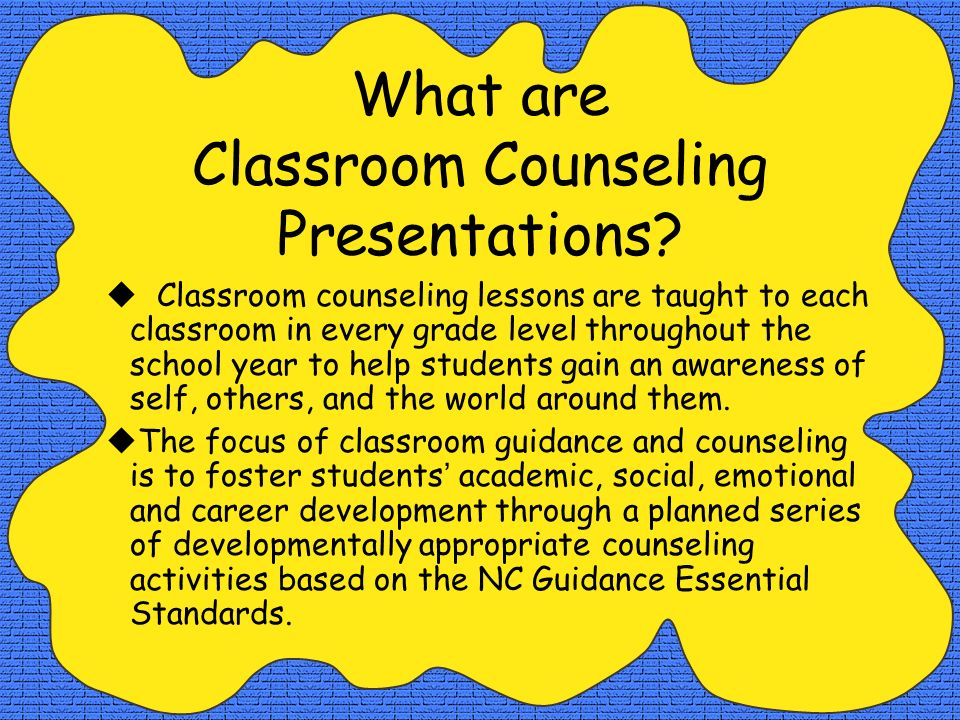 What are Classroom Counseling Presentations