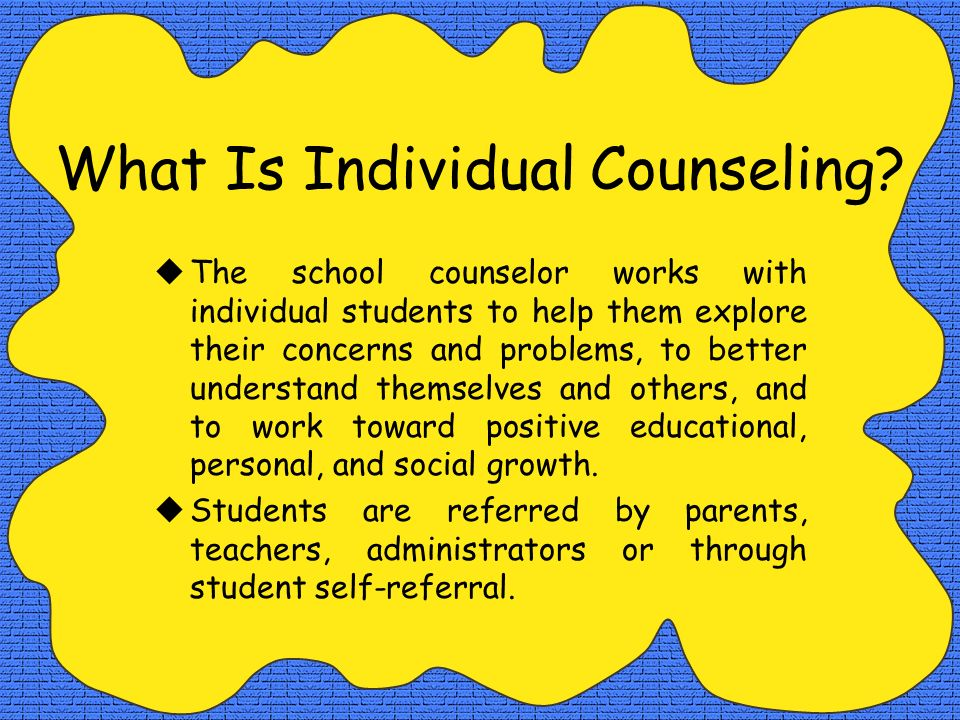 What Is Individual Counseling