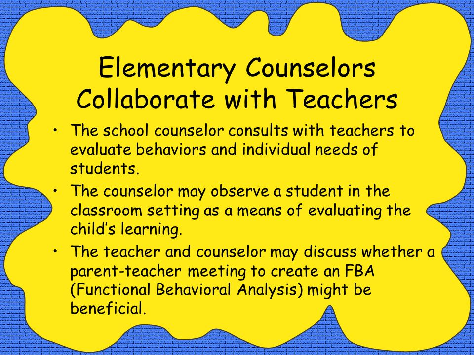 Elementary Counselors Collaborate with Teachers