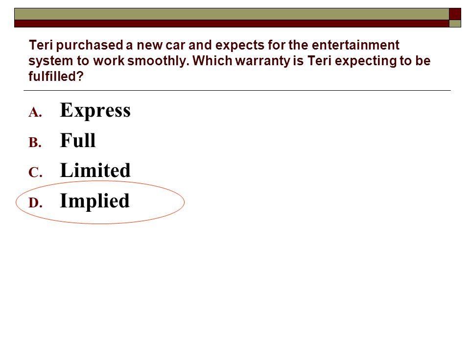 Express Full Limited Implied