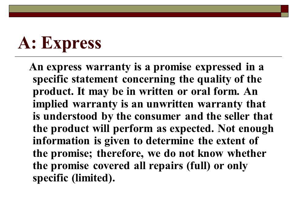 A: Express