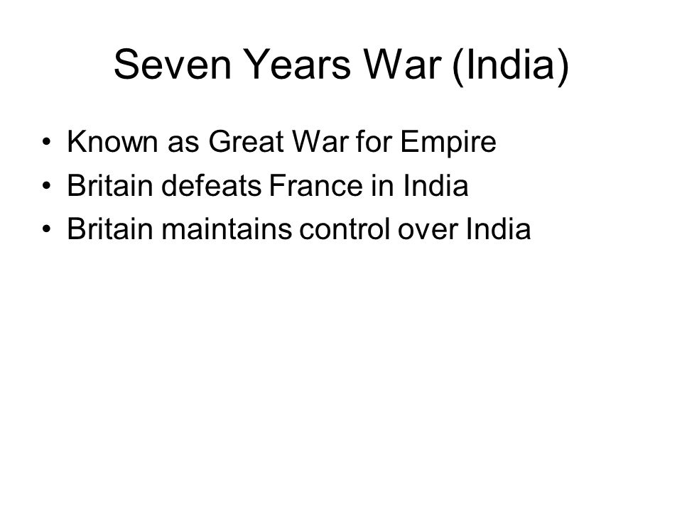 Seven Years War (India)