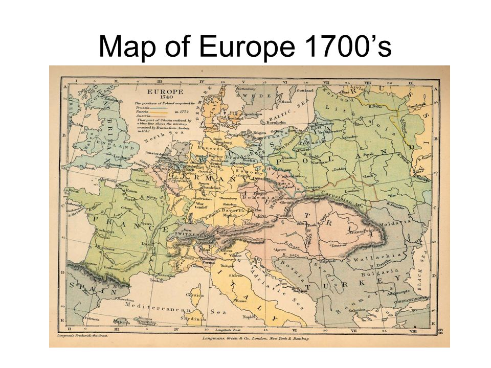 Map of Europe 1700's
