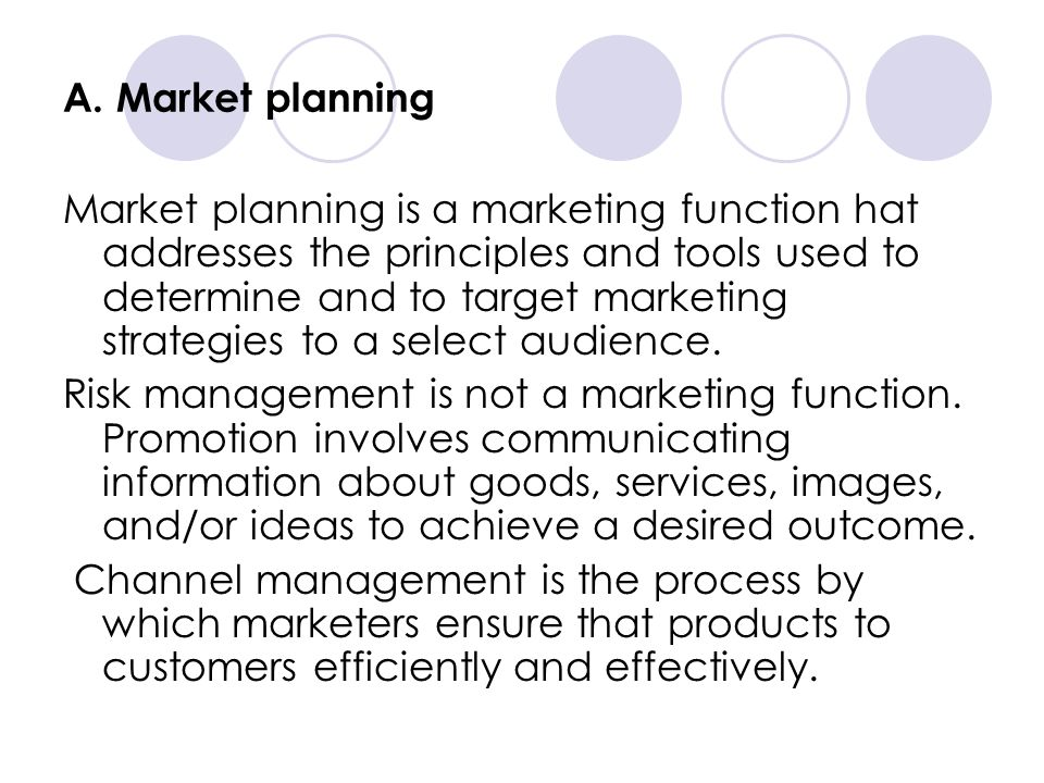 A. Market planning