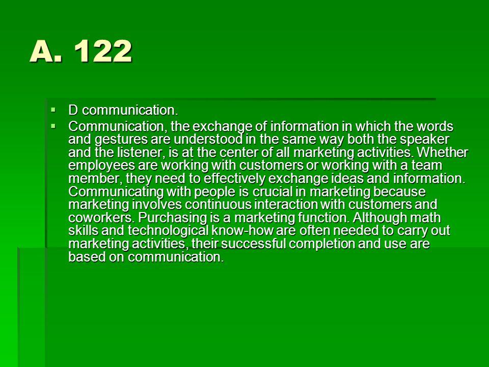 A. 122 D communication.