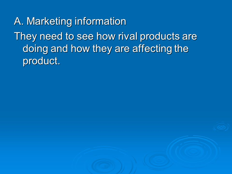 A. Marketing information