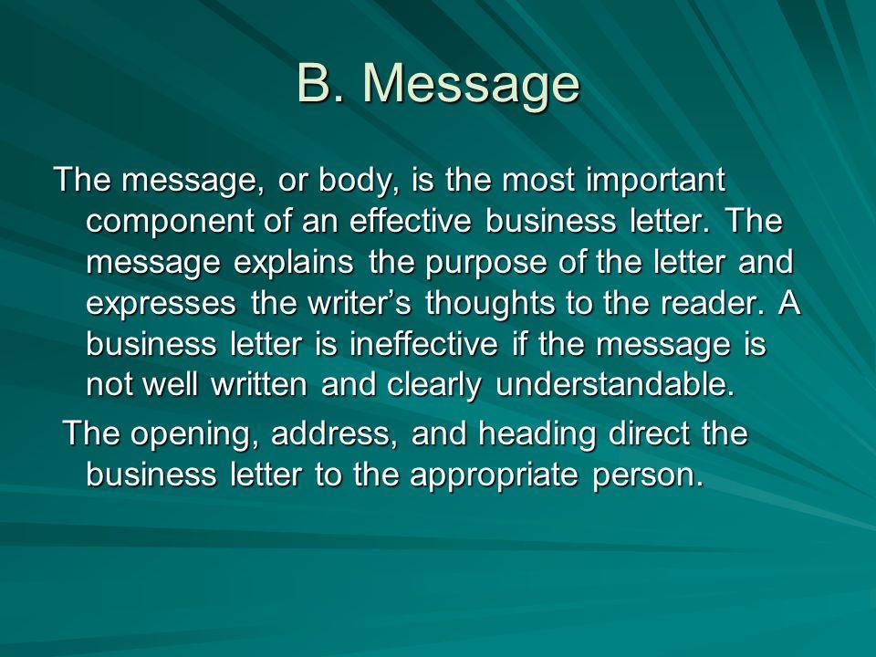 B. Message