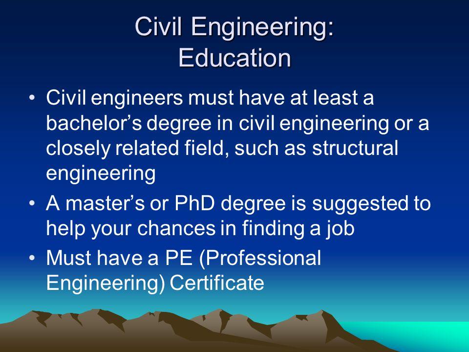 Civil Engineering: Education