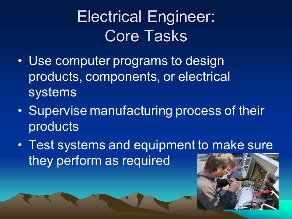 Electrical Engineer: Core Tasks